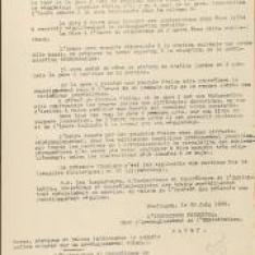 Consigne A.I . 39 sur la mise à l'heure du régulateur des gares et des stations dans l'arrondissement de Montluçon.