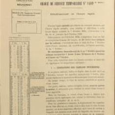 Ordre de service temporaire n° 8409 des pour le rétablissement de l'heure légale dans la nuit du 6 au 7 octobre 1934 sur le réseau du P.O.-Midi